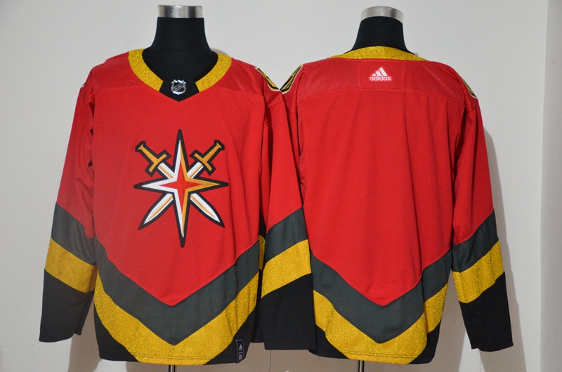 Vegas Golden Knights Blank Red 2020-21 Reverse Retro Adidas Jersey