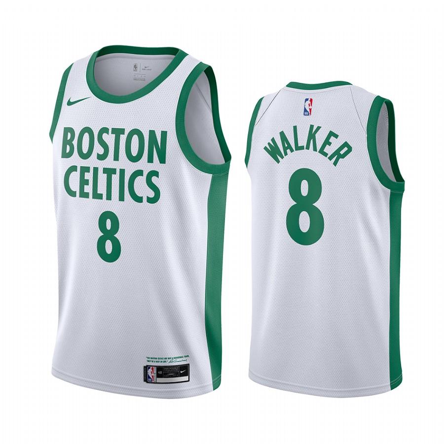 Celtics 8 Kemba Walker White 2020-21 City Edition Swingman Jersey