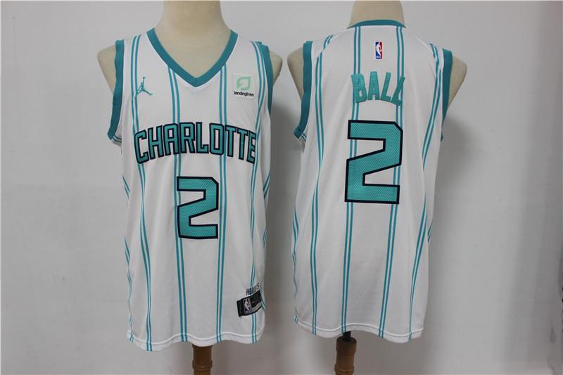 Hornets 2 LaMelo Ball White 2021 Swingman jersey