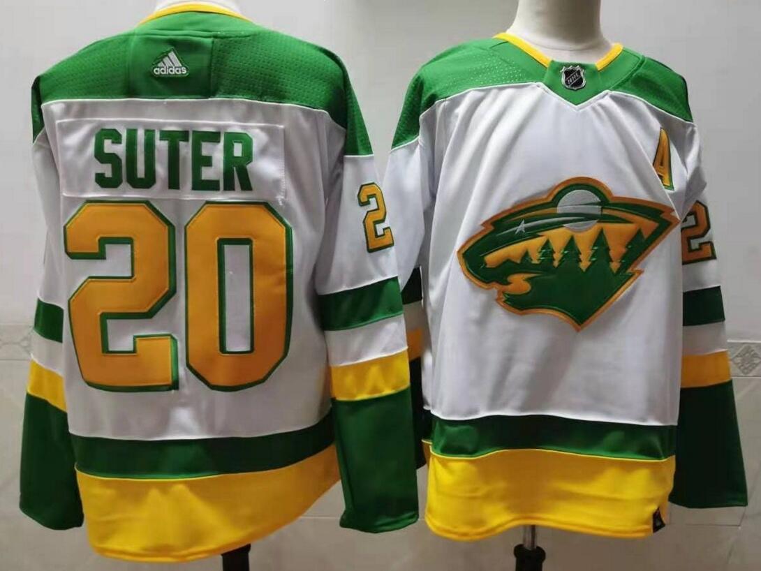 Wild 20 Ryan Suter White 2020-21 Reverse Retro Adidas Jersey