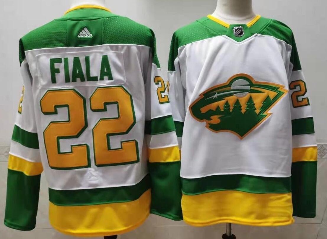 Wild 22 Kevin Fiala White 2020-21 Reverse Retro Adidas Jersey