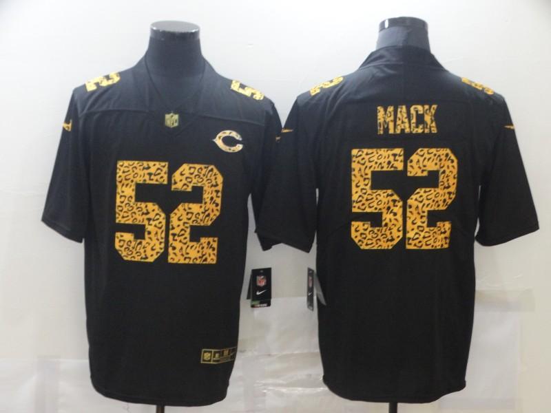 Nike Bears 52 Khalil Mack Black Leopard Vapor Untouchable Limited Jersey