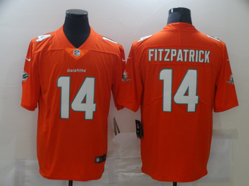 Nike Dolphins 14 Ryan Fitzpatrick Orange Vapor Untouchable Limited Jersey