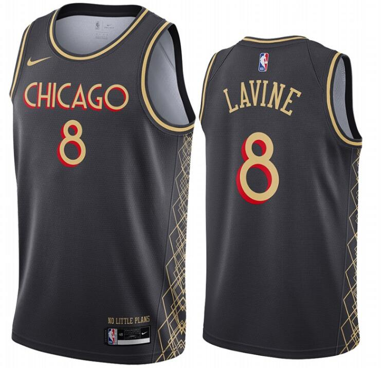Bulls 8 Zach Lavine Black 2020-21 City Edition Nike Swingman Jersey