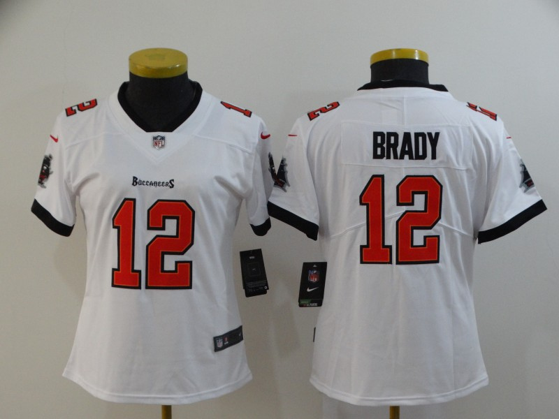 Nike Buccaneers 12 Tom Brady White Women New 2020 Vapor Untouchable Limited Jersey