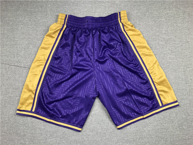 Lakers Purple Swingman Shorts