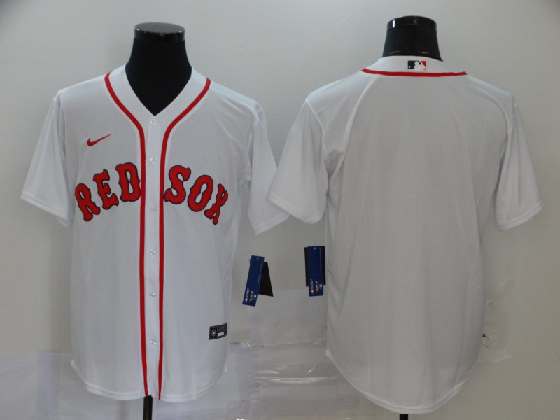 Red Sox Blank White 2020 Nike Cool Base Jersey
