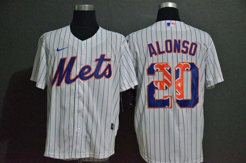 Mets 20 Pete Alonso White 2020 Nike Cool Base Fashion Jersey