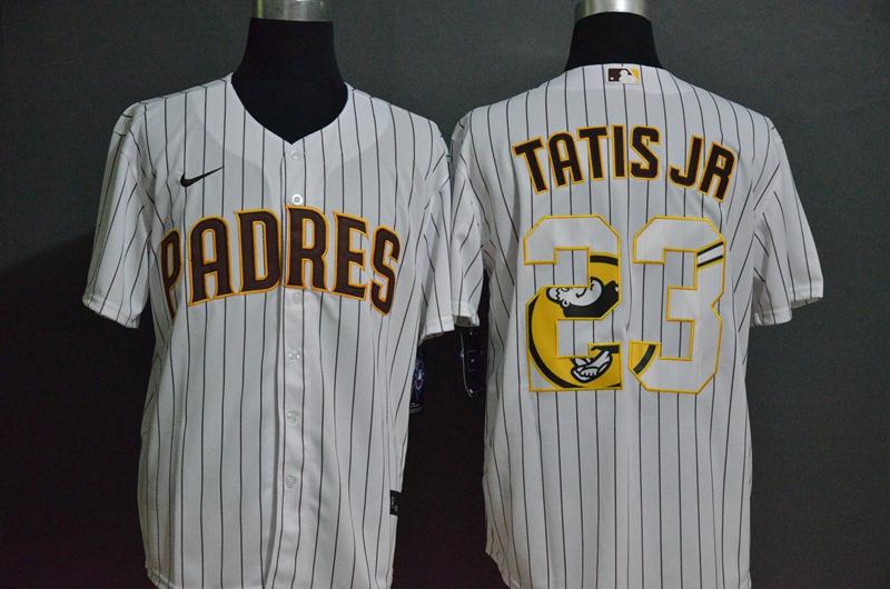 Padres 23 Fernando Tatis Jr. White 2020 Nike Cool Base Fashion Jersey