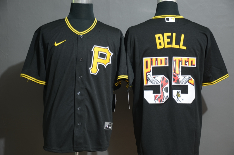 Pirates 55 Josh Bell Black 2020 Nike Cool Base Fashion Jersey