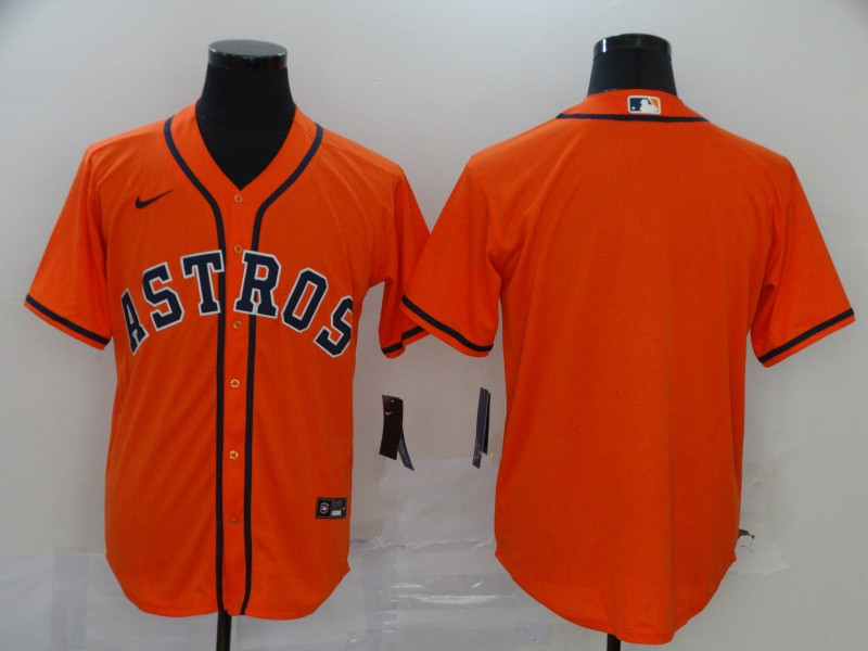 Astros Blank Orange 2020 Nike Cool Base Jersey