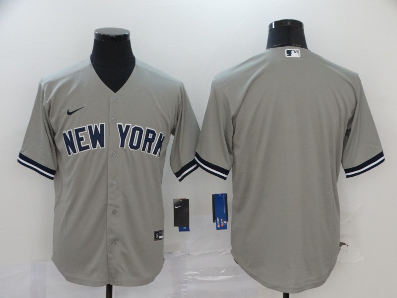 Yankees Blank Gray 2020 Nike Cool Base Jersey