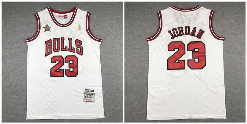 Bulls 23 Michael Jordan White 1998 All-Star Hardwood Classics Jersey