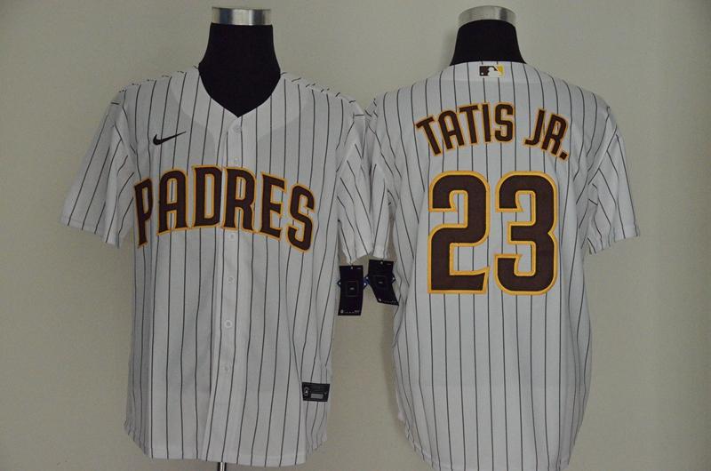 Padres 23 Fernando Tatis Jr. White Nike Cool Base Sleeveless Jersey