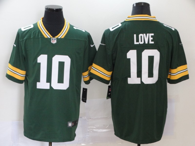 Nike Packers 10 Jordan Love Green 2020 NFL Draft First Round Pick Vapor Untouchable Limited Jersey