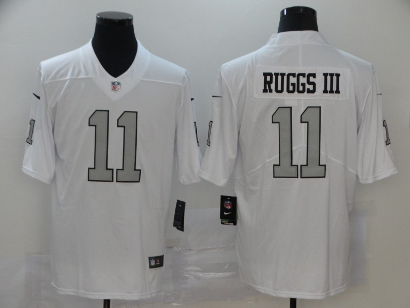 Nike Raiders 11 Henry Ruggs III White 2020 NFL Draft First Round Pick Color Rush Limited Jersey