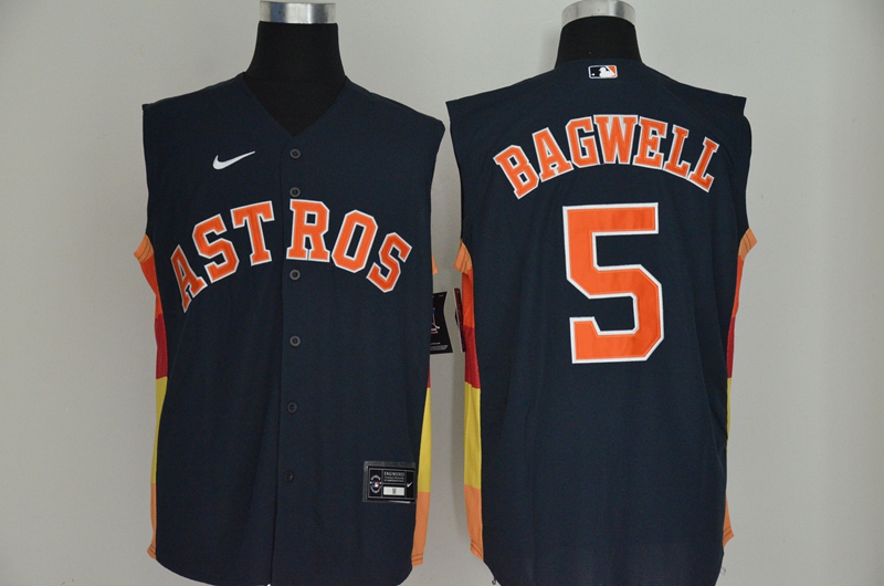 Astros 5 Jeff Bagwell Navy Nike Cool Base Sleeveless Jersey