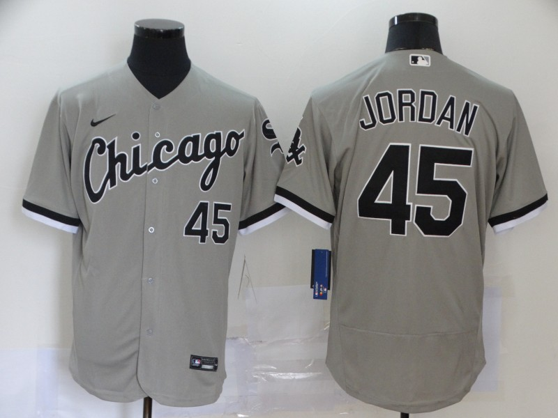 White Sox 45 Michael Jordan Gray 2020 Nike Flexbase Jersey