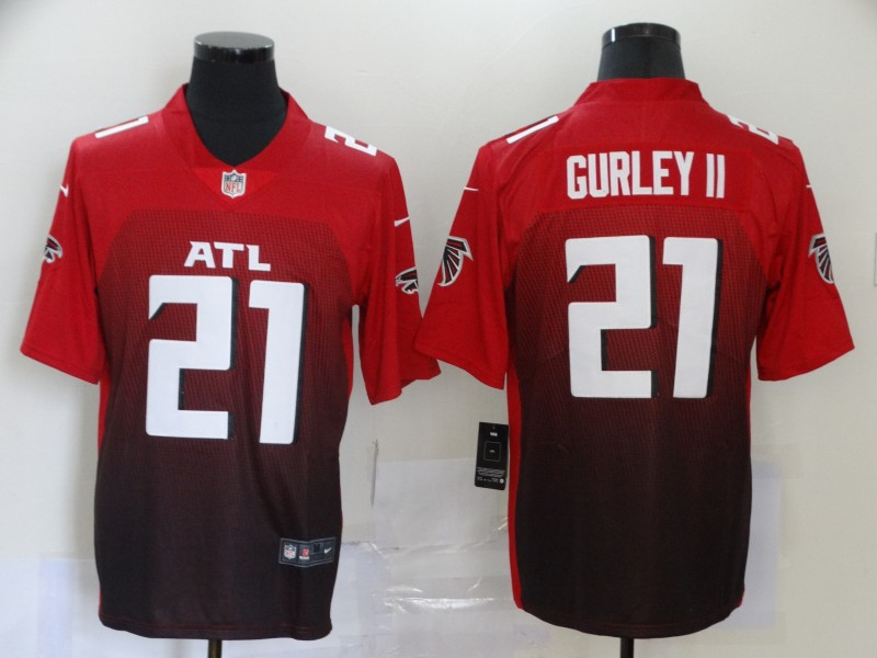 Nike Falcons 21 Todd Gurley II Red New Vapor Untouchable Limited Jersey