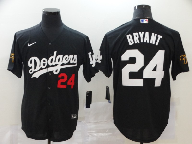 Dodgers 24 Kobe Bryant Black 2020 Nike Cool Base Jersey