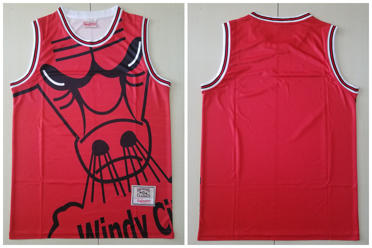 Bulls Big Face Purple Hardwood Classics Swingman Jersey
