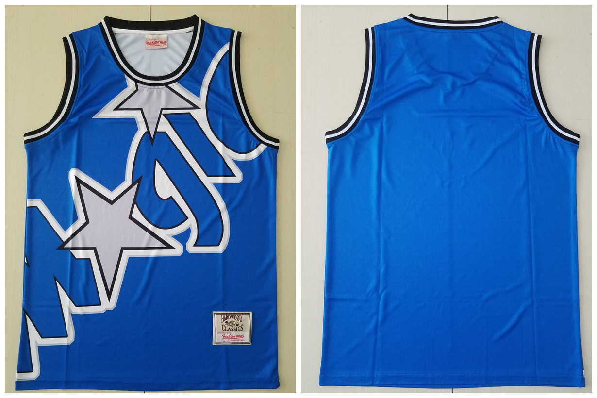 Magic Big Face Blue Hardwood Classics Swingman Jersey