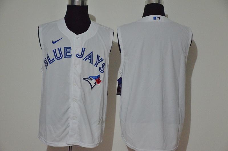 Blue Jays Blank White Nike Cool Base Sleeveless Jersey