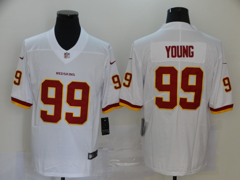 Nike Redskins 99 Chase Young White 2020 NFL Draft First Round Pick Vapor Untouchable Limited Jersey