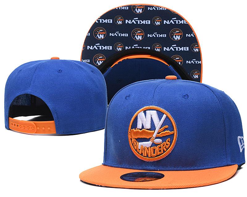 Islanders Team Logo Blue Adjustable Hat LH