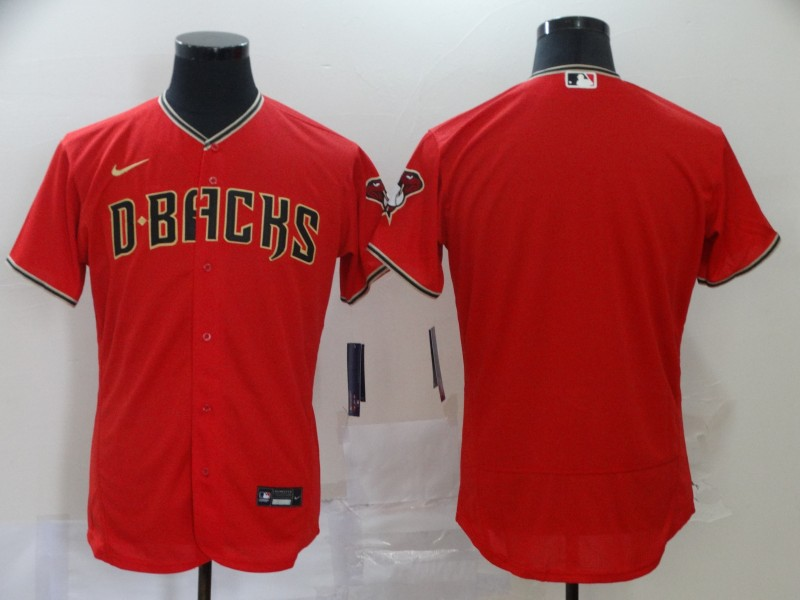 Diamondbacks Blank Red Nike 2020 Flexbase Jersey