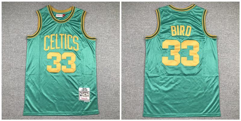 Celtics 33 Larry Bird Green 1985 86 Hardwood Classics Jersey