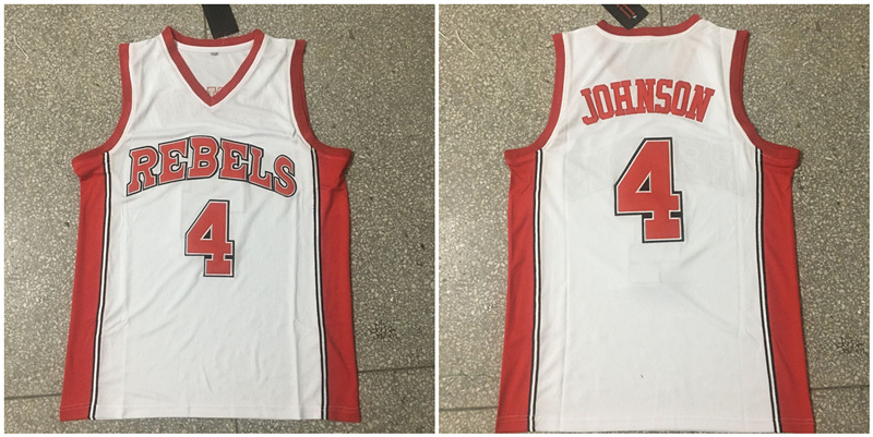 Larry Johnson 4 Larry Johnson White College Basketball Jersey