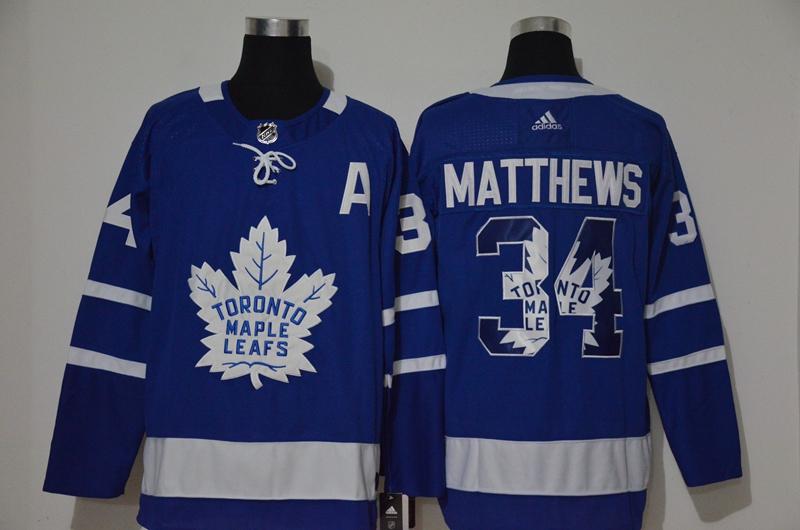 Maple Leafs 34 Auston Matthews Blue Adidas Fashion Jersey