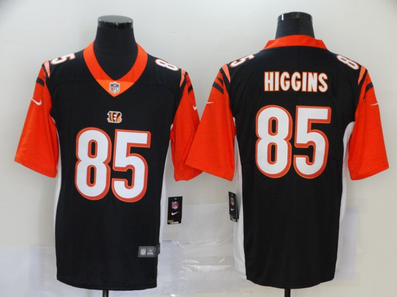 Nike Bengals 85 Tee Higgins Black 2020 NFL Draft First Round Pick Vapor Untouchable Limited Jersey