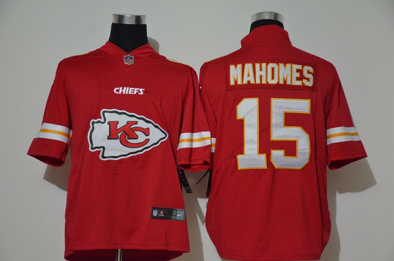 Nike Chiefs 15 Patrick Mahomes Red Vapor Untouchable Limited Jersey