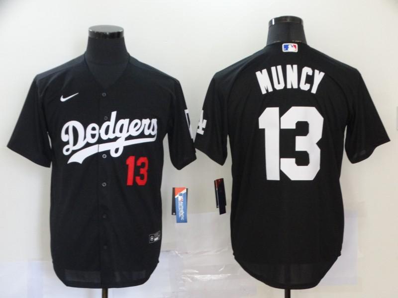 Dodgers 13 Max Muncy Black 2020 Nike Cool Base Jersey