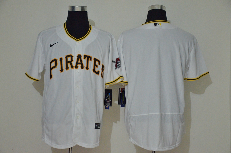 Pirates Blank White 2020 Nike Flexbase Jersey