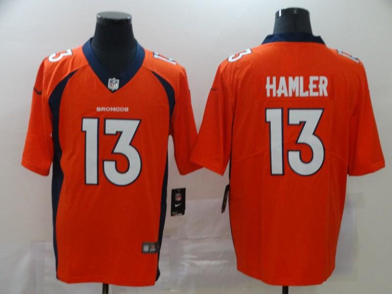 Nike Broncos 13 KJ Hamler Orange 2020 NFL Draft Vapor Untouchable Limited Jersey