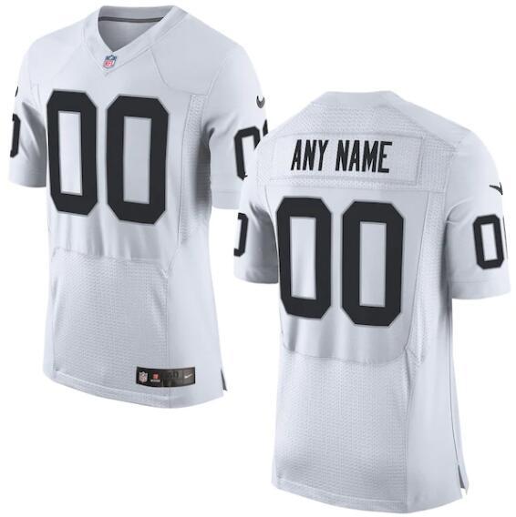 Nike Raiders Customized White Elite Jersey