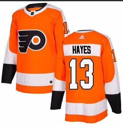 Flyers 13 Kevin Hayes Orange Adidas Jersey