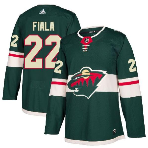 Wild 22 Kevin Fiala Green Adidas Jersey