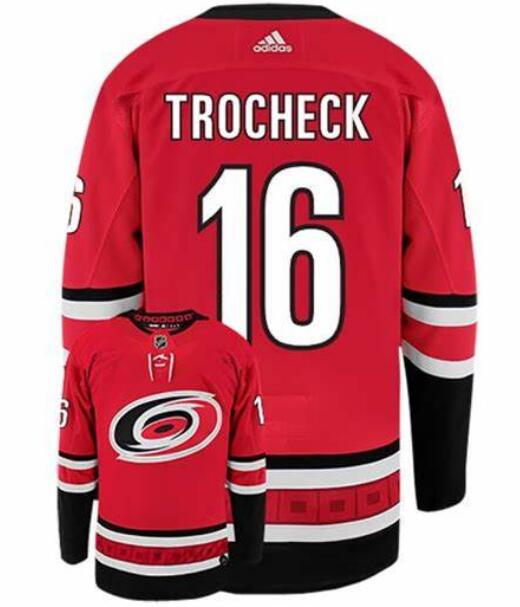 Hurricanes 16 Vincent Trocheck Red Adidas Jersey