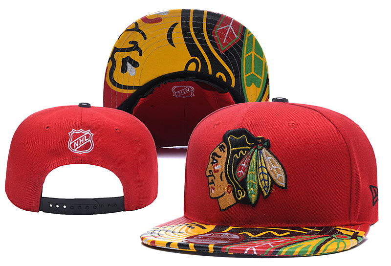 Blackhawks Team Logo Red Adjustable Hat YD