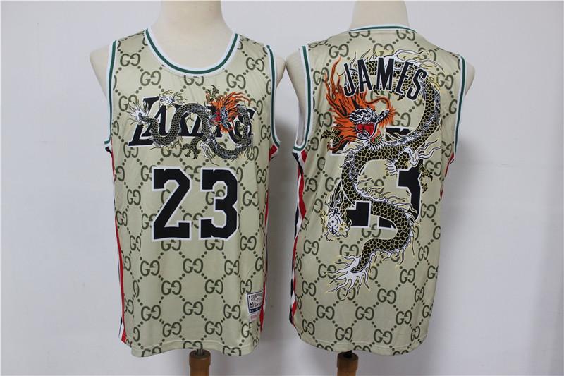 Lakers 23 Lebron James Gray Swingman Jersey