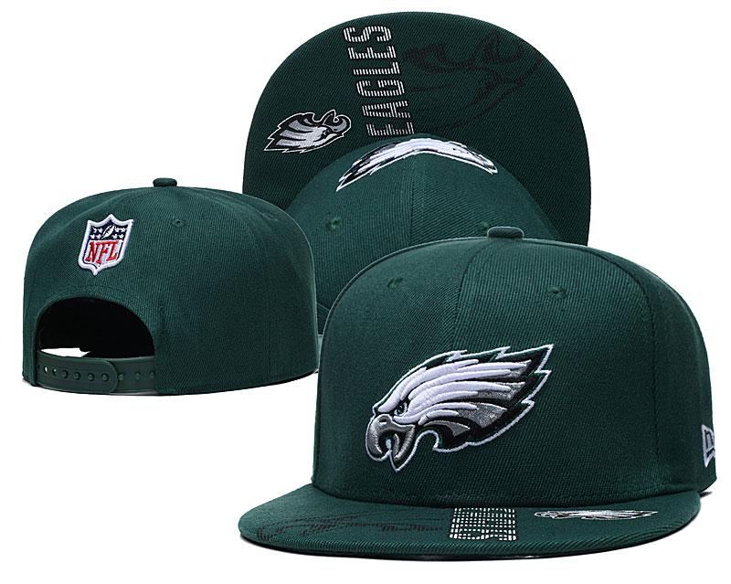 Eagles Team Logo Green Adjustable Hat GS