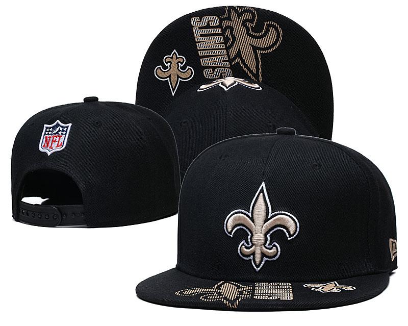 Saints Team Logo Black Adjustable Hat GS