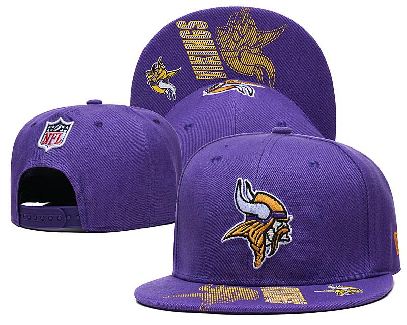 Vikings Team Logo Purple Adjustable Hat GS