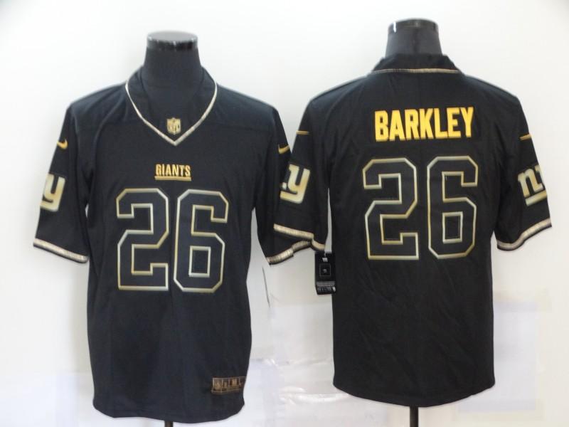 Nike Giants 26 Saquon Barkley Black Gold Vapor Untouchable Limited Jersey