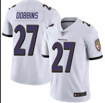 Nike Ravens 27 J.K. Dobbins White Youth Vapor Untouchable Limited Jersey