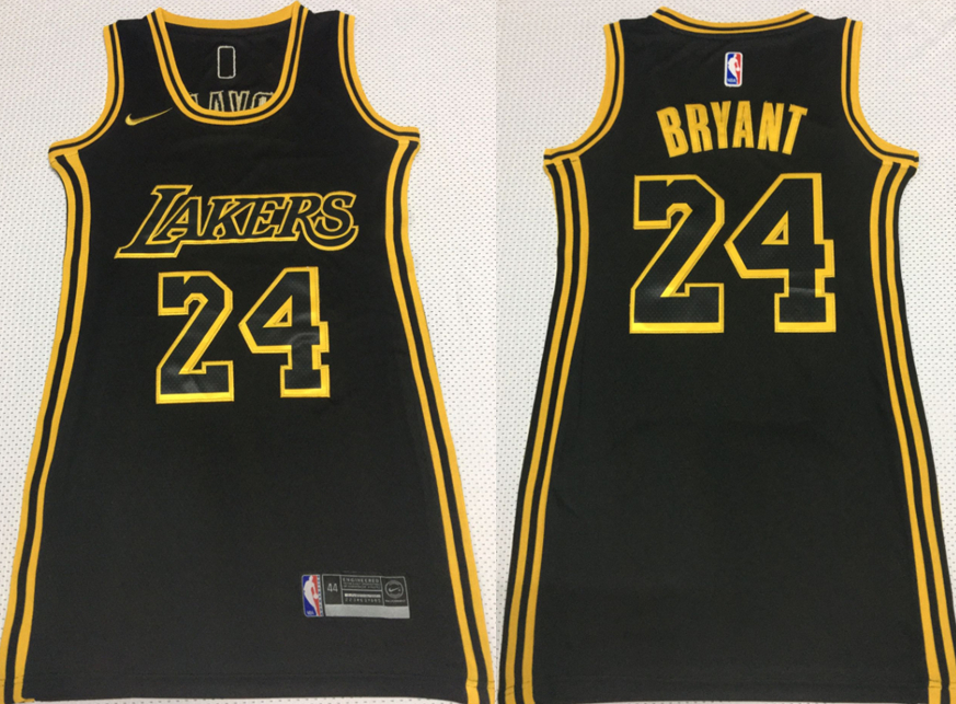 Lakers 24 Kobe Bryant Black Women Nike Swingman Jersey